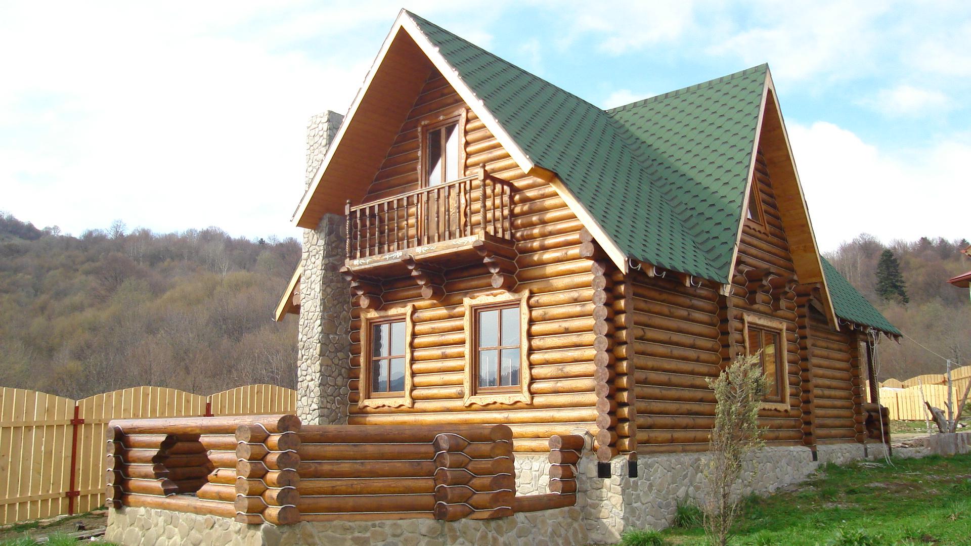Case din lemn rotund artwood xxi s r l for Foto case americane