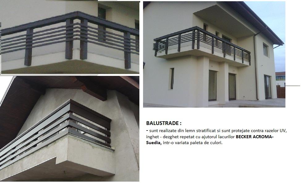 balustrade balcon lemn stratificat foresta arges s a. Black Bedroom Furniture Sets. Home Design Ideas