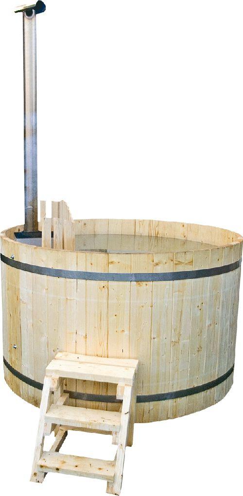Ciubar din lemn hot tub din lemn cu soba submersibila for Amenajari piscine